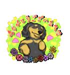 可愛い子犬のダックスたち(個別スタンプ:03)
