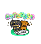 可愛い子犬のダックスたち(個別スタンプ:09)