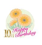 誕生月のフラワーメッセージ(個別スタンプ:28)