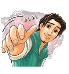 イケメン!ディズニーキャラクターズ(個別スタンプ:15)