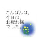 """伝えたい言葉に花を添えて。""""吹き出し""""(個別スタンプ:20)"""