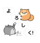 吹き出しボンレス犬&ボンレス猫(個別スタンプ:05)