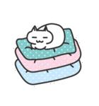 普通の白いネコ(個別スタンプ:03)