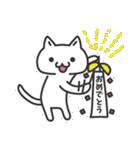 普通の白いネコ(個別スタンプ:05)