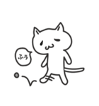普通の白いネコ(個別スタンプ:39)