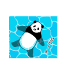 動く!やる気のないパンダ(夏)(個別スタンプ:10)