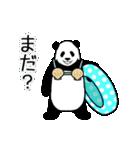 動く!やる気のないパンダ(夏)(個別スタンプ:14)