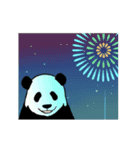 動く!やる気のないパンダ(夏)(個別スタンプ:23)