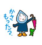 雨の日の雨ずきんちゃん(個別スタンプ:02)