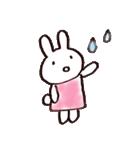 完全脱力うさちゃん(雑着色)(個別スタンプ:20)