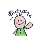 色えんぴつ de らくがき :)(個別スタンプ:09)