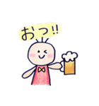 色えんぴつ de らくがき :)(個別スタンプ:10)