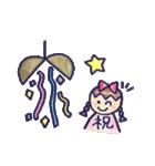 色えんぴつ de らくがき :)(個別スタンプ:40)