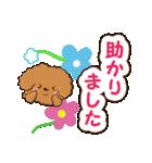 お花とトイプードル【敬語編】(個別スタンプ:18)