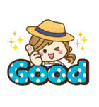 【夏▶真夏】毎日つかえる言葉♥(個別スタンプ:16)