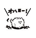 ゆる動く!白い毛玉のような犬 日常会話(個別スタンプ:01)