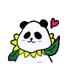 シュールで不思議な花パンダたち(個別スタンプ:01)