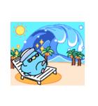 夏のインコちゃんズ【お誘い編】(個別スタンプ:36)