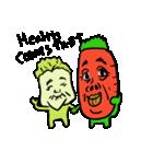 シュールで愉快な野菜果物たち(個別スタンプ:36)