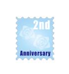 1~40周年記念日切手(個別スタンプ:02)