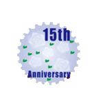1~40周年記念日切手(個別スタンプ:15)