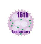 1~40周年記念日切手(個別スタンプ:16)