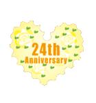 1~40周年記念日切手(個別スタンプ:24)