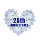 1~40周年記念日切手(個別スタンプ:25)