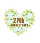 1~40周年記念日切手(個別スタンプ:27)