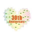 1~40周年記念日切手(個別スタンプ:30)