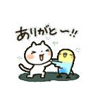 ▷しろねこ 夏の日常パック(個別スタンプ:08)