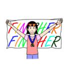 桐子さんのランニングライフ(個別スタンプ:04)
