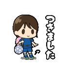 がんばる!サッカー少女(個別スタンプ:03)