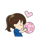 がんばる!サッカー少女(個別スタンプ:20)