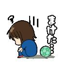 がんばる!サッカー少女(個別スタンプ:34)
