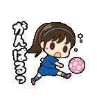 がんばる!サッカー少女(個別スタンプ:35)