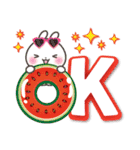 【くっきり大きな文字!】真夏のうさぎさん(個別スタンプ:3)