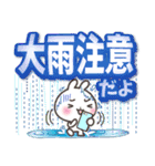 【くっきり大きな文字!】真夏のうさぎさん(個別スタンプ:34)