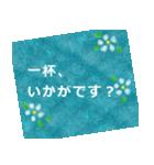 """伝えたい想いにかわいい花を添えて。""""和""""(個別スタンプ:11)"""