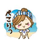 【夏だ♥海だ!】毎日つかえるゆるカジ女子(個別スタンプ:8)