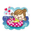 【夏だ♥海だ!】毎日つかえるゆるカジ女子(個別スタンプ:12)