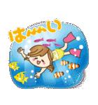 【夏だ♥海だ!】毎日つかえるゆるカジ女子(個別スタンプ:13)