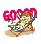 【夏だ♥海だ!】毎日つかえるゆるカジ女子(個別スタンプ:14)