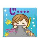 【夏だ♥海だ!】毎日つかえるゆるカジ女子(個別スタンプ:30)