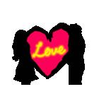 動く愛し合う2人のスタンプ(個別スタンプ:16)
