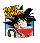 ドラゴンボール夏休みスタンプ(個別スタンプ:01)