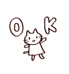 完全脱力ねこちゃん(個別スタンプ:04)