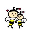 ゆるーい蜂と蝶々(個別スタンプ:2)