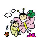 ゆるーい蜂と蝶々(個別スタンプ:4)