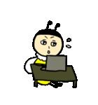 ゆるーい蜂と蝶々(個別スタンプ:8)